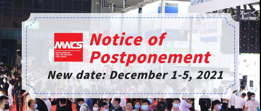 Notice of Postponement of MWCS 2021